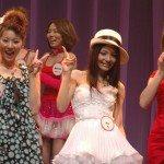 Yuma Asami and Rio greet the crowd at the 2008 SkyPerfect Adult Broadcasting Awards.