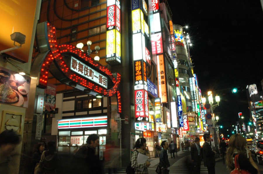 Ichiban-gai in Kabukicho at night