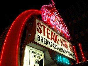 Las Vegas in neon