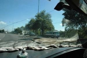 Inside the taxi of Paul Egan