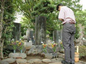 Bon Koizumi at Zoshigaya Cemetery