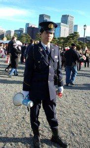 Security at Sakurada-mon