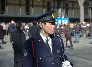 Officer in nice suit