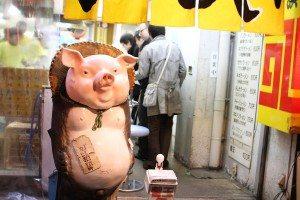 An outlet of the Hakata Tenjin ramen chain in Kabukicho, Tokyo