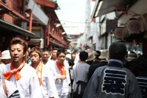 Participants at the Sanja Matsuri in Asakusa, Tokyo.