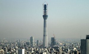 Tokyo Sky Tree at nearly 500 meters