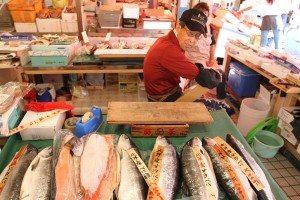 Morning market in Hakodate, Hokkaido