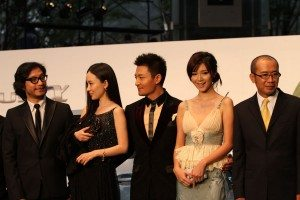 Cast from 'Sleepwalker' at the opening ceremonies for the Tokyo International Film Festival