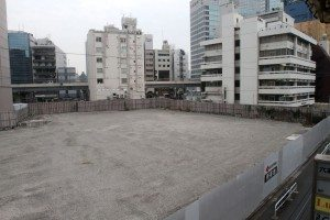 Current view of site of former TSK.CCC building with Roppongi Hills at right
