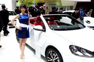 Volkswagen's Golf Cabriolet at the Tokyo Motor Show 2011