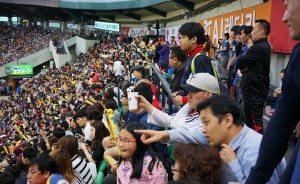 Cheering in left field