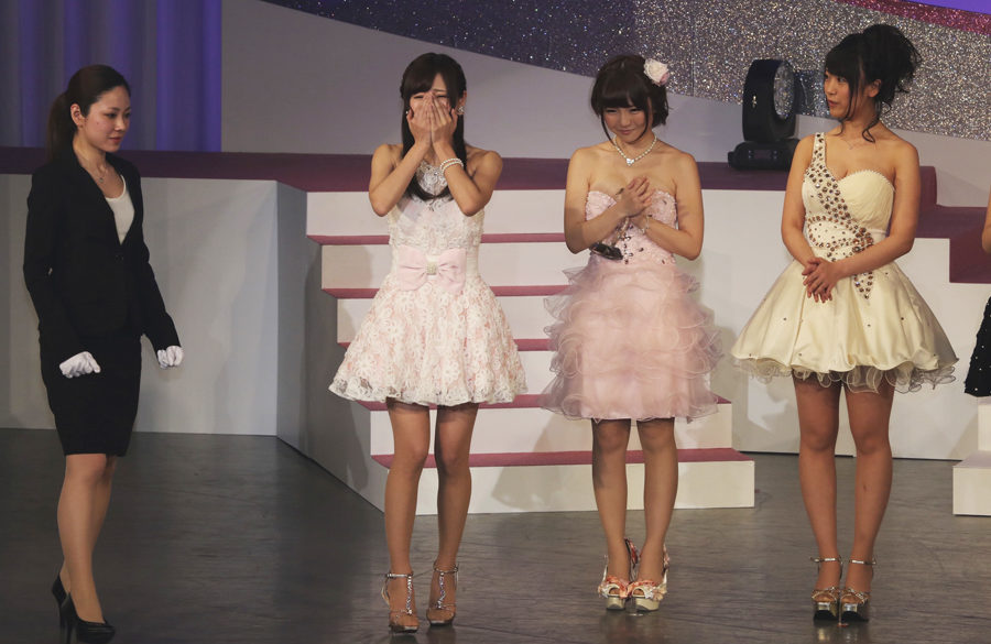 Moe Amatsuka (second from left) is Best New Actress