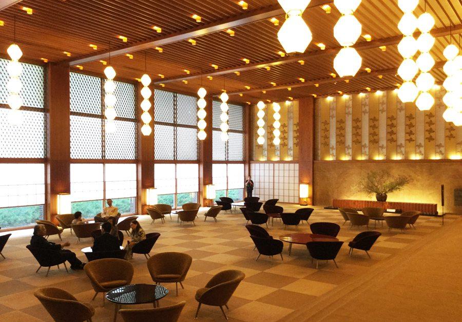 The lobby of the Hotel Okura Tokyo