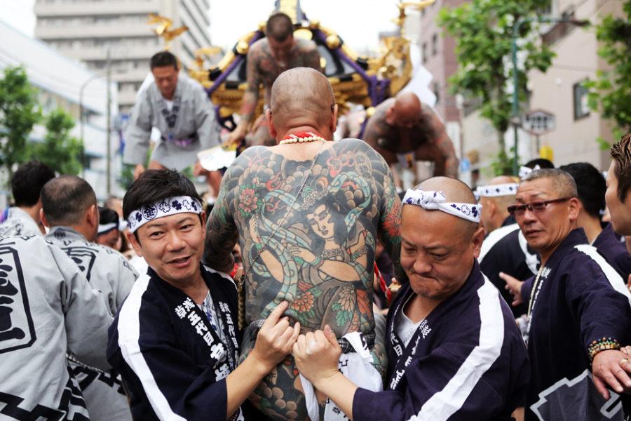 The Takahashi-gumi at the Sanja Matsuri