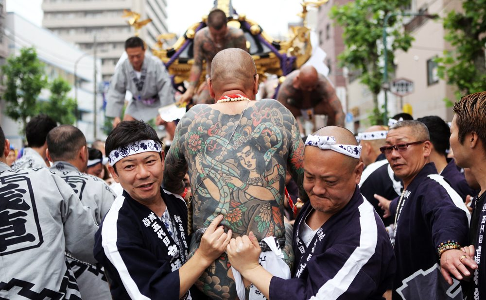 The Takahashi-gumi at the Sanja Matsuri