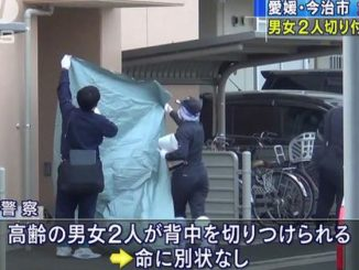 A woman stabbed two elderly persons at a residence in Imabari City