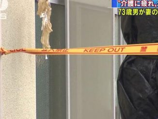 An elderly man used a towel to attempt to strangle his wife, who later died, at their residence in Kumamoto City
