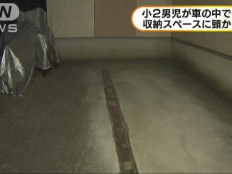 A boy died after he was found with his head stuck in a car trunk space in Kawaguchi City