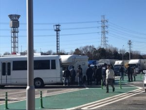 Tokyo police raided a camper van parked at a highway rest area in Higashi Matsuyama City on February 1