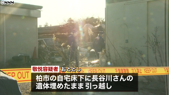 A corpse was found at a scrap wood yard in Shiroi City in January