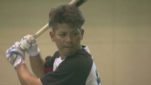 Shota Omine of the Chiba Lotte Marines