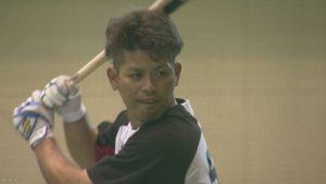 Shota Omine of the Chiba Lotte Marines