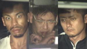 Shun Rafael Kawada (left), Yuta Otake (center) and Makoto Yamada