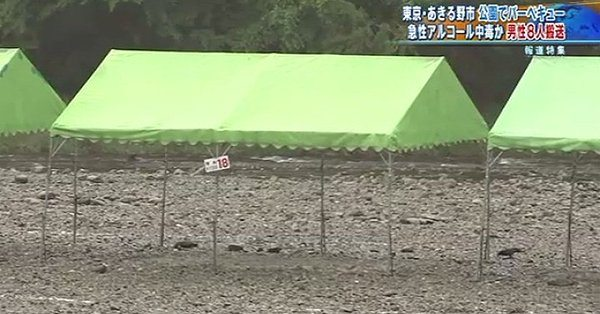 Eight people passed out after consuming alcohol during a barbecue with a group of 150 people (TBS News)