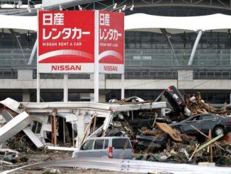 Sendai Airport parking lot