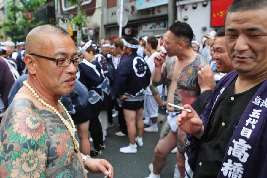 Members of the Takahashi-gumi at the Sanja Matsuri