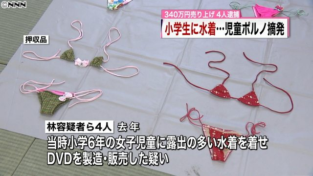 Bikinis that sixth-grade girls were allegedly forced to wear for child pornography DVDs