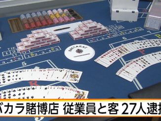 Tokyo police arrested 27 persons in the raid of a baccarat parlor operating illegally in Sumida Ward on Tuesday