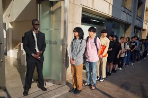 """The line for the """"Black Box Exhibition"""" stretched for blocks during its run between May 6 and June 17"""