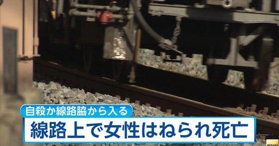 A woman was struck and killed by a train traveling on the Tobu Noda Line on Wednesday