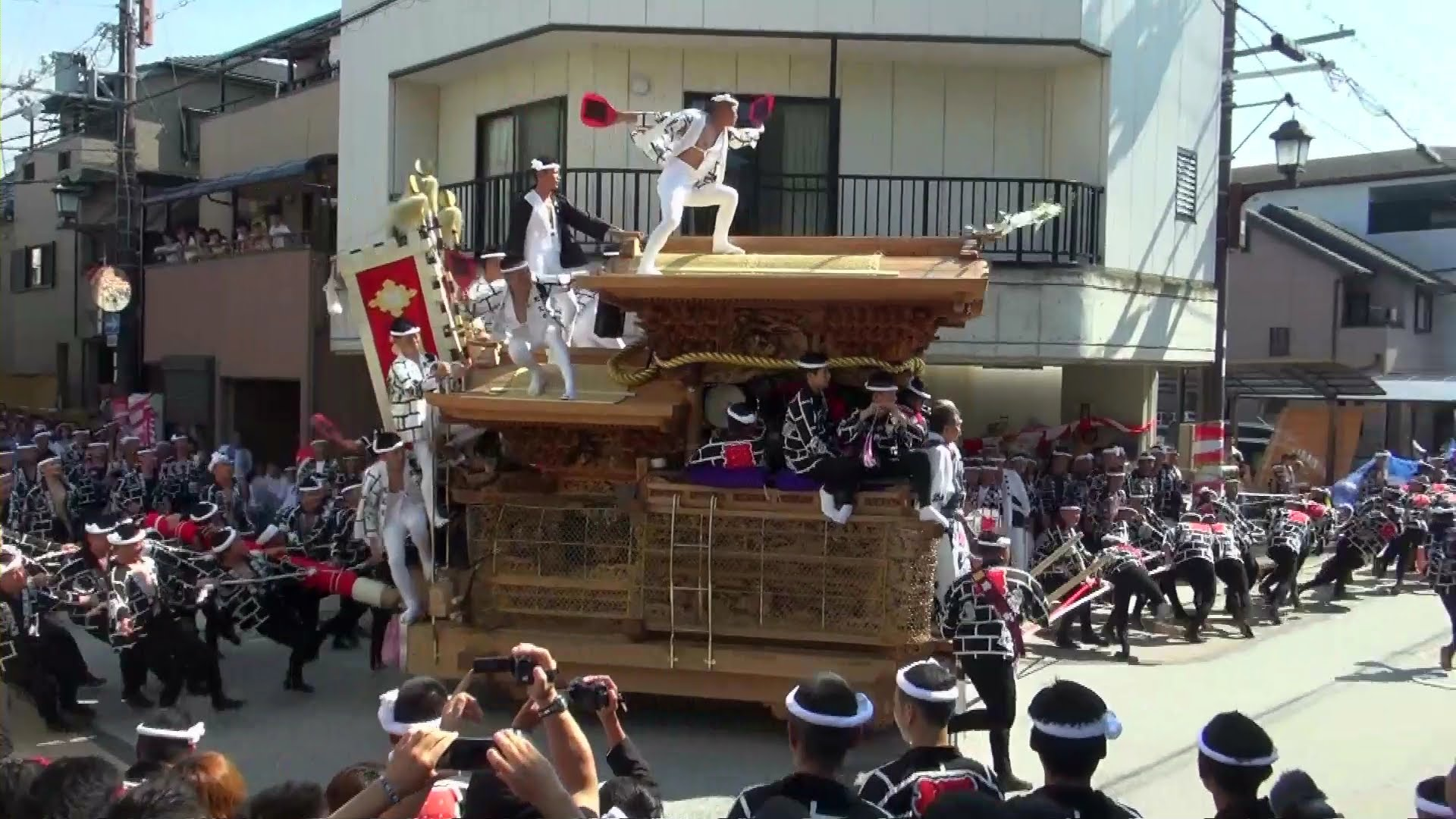 The Danjiri Festival in Kishiwada City is held in September
