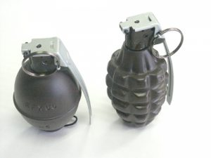 An object believed to be a grenade was found buried in Fukuoka City