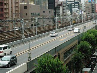 Tokyo Expressway's highway in Ginza