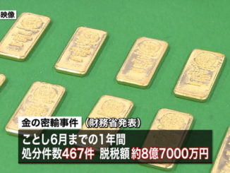 Japan has seen a surge in gold smuggling cases