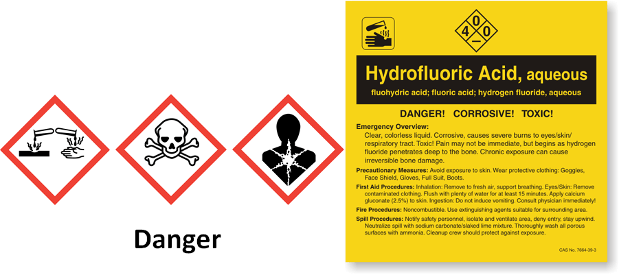 Hydrofluoric acid is widely used in manufacturing