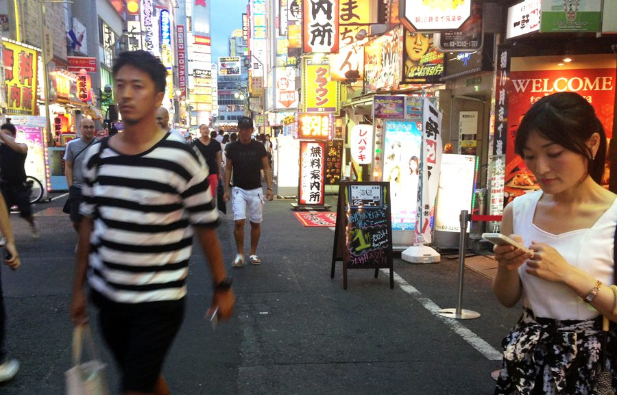 The Kabukicho red-light district in August
