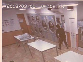 at a laundromat Yokohama