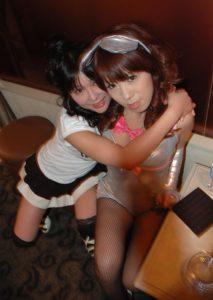 Maria and Azusa at Virgin