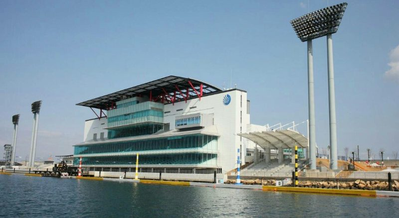 A man threatened to spread Sarin gas at a boat racing track in Marugame City