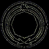 The emblem of the Tokyo-based Matsuba-kai