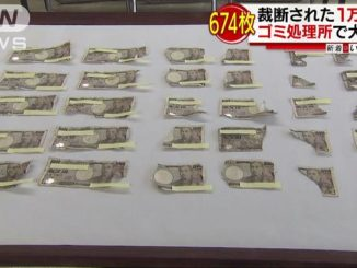 Pieces of hundreds of 10,000-yen notes were found at garbage facility in Iga City on Monday