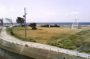 A male corpse was found on a beach in the town of Mihama on Wednesday