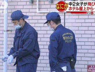 Miyagi police believe a middle school girl likely committed suicide by jumping off a hotel roof in Tagajo City on Wednesday