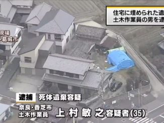 Nara police found a corpse buried on an abandoned property in Katsuragi City on Monday