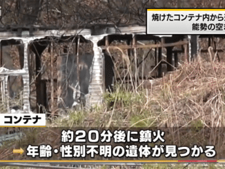 A body was found inside a burned-out container in the town of Nose on Thursday