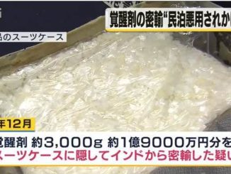 A male Singaporean national was found to have 3 kilograms of stimulant drugs upon arrival at Kansai International Airport last year
